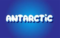 ícone branco azul antártico do logotipo do projeto do vetor do conceito do texto 3d Imagens de Stock Royalty Free