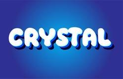 ícone branco azul de cristal do logotipo do projeto do vetor do conceito do texto 3d Imagens de Stock