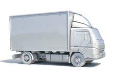 ícone branco do caminhão de entrega 3d Foto de Stock Royalty Free