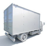 ícone branco do caminhão de entrega 3d Imagem de Stock