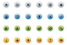 Ícone Buttons_circle da Web Imagem de Stock