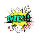 Ícone cômico de Art Style Me Expression Text do PNF da bolha do bate-papo do discurso ilustração stock