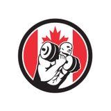 Ícone canadense da bandeira de Canadá do circuito do Gym Fotos de Stock Royalty Free