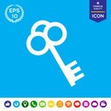 Ícone chave Imagem de Stock Royalty Free