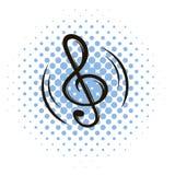 Ícone chave da banda desenhada da música ilustração stock