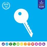 Ícone chave do símbolo Fotografia de Stock
