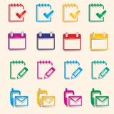 Ícone colorido Imagens de Stock