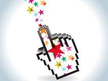 Ícone colorido abstrato da mão ilustração royalty free