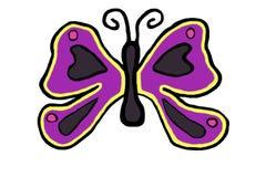 Ícone colorido da borboleta na mola imagens de stock