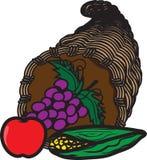 Ícone colorido da cornucópia ilustração do vetor