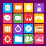 Ícone colorido do azul do Desktop Ilustração do Vetor