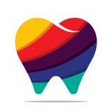 Ícone colorido do dente ilustração royalty free