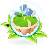 Ícone com cidade Imagem de Stock Royalty Free