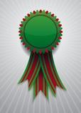 Ícone com a fita vermelha e verde Foto de Stock Royalty Free