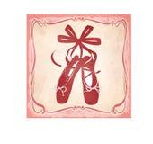 Ícone com shes cor-de-rosa do bailado em um quadro ilustração royalty free