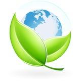 Ícone com terra Imagens de Stock