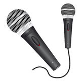 Ícone com um microfone Fotografia de Stock Royalty Free