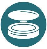 Ícone compacto do vetor do isolado do pó editável ilustração do vetor