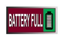 Ícone completo da Web do botão da imagem da bateria colorida ilustração stock