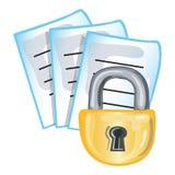 Ícone confidencial dos papéis Imagens de Stock
