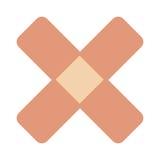 ícone cruzado do Band-Aid ilustração royalty free