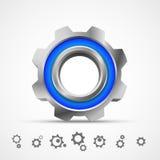 Ícone 3d da engrenagem Fotografia de Stock