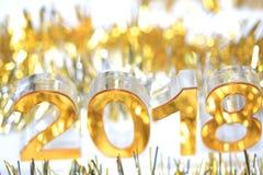 Ícone 2018 3d digital dourado Imagens de Stock
