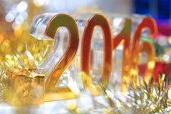Ícone 2016 3d digital dourado Foto de Stock