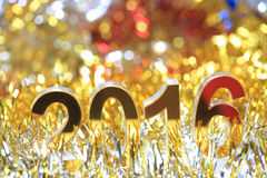 Ícone 2016 3d dourado Foto de Stock Royalty Free