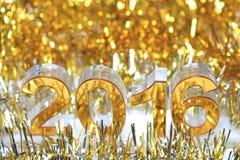 Ícone 2016 3d dourado Fotografia de Stock Royalty Free