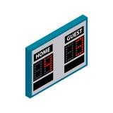 Ícone 3d isométrico do placar Fotografia de Stock Royalty Free