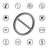 ícone 3D proibido caráter Grupo detalhado de ícones dos sinais de aviso Sinal superior do projeto gráfico da qualidade Um do ícon Imagens de Stock Royalty Free
