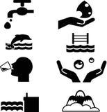 ícone da água Imagens de Stock Royalty Free