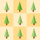 Ícone da árvore de Natal Fotografia de Stock