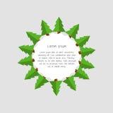 Ícone da árvore de Natal Imagens de Stock Royalty Free