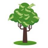 Ícone da árvore do papel moeda Imagens de Stock Royalty Free