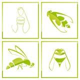 Ícone da abelha Fotografia de Stock Royalty Free