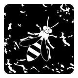 Ícone da abelha, estilo do grunge ilustração do vetor