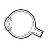 Ícone da anatomia do globo ocular, ilustração do vetor ilustração do vetor