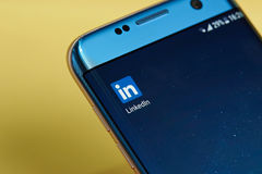 Ícone da aplicação de Linkedin Fotos de Stock