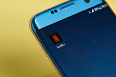 Ícone da aplicação de Netflix Fotografia de Stock