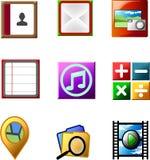Ícone da aplicação de Smartphone Fotografia de Stock