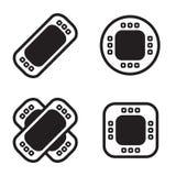 Ícone da atadura em quatro variações Vetor EPS 10 Fotos de Stock
