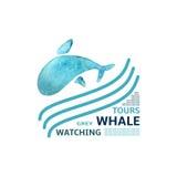 Ícone da baleia Fotos de Stock