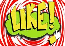 Ícone da banda desenhada do pop art com palavra como ilustração stock