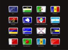 Ícone da bandeira ajustado (parte 1) Imagem de Stock