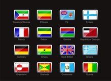 Ícone da bandeira ajustado (parte 4) Fotos de Stock
