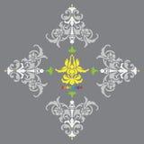Ícone da bandeira da ioga no fundo cinzento Fotografia de Stock Royalty Free