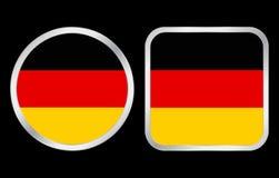 Ícone da bandeira de Alemanha Fotografia de Stock Royalty Free