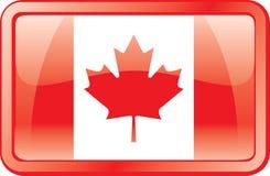 Ícone da bandeira de Canadá Fotografia de Stock Royalty Free